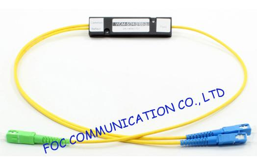 High Channel Isolation WDM SC / UPC Connector for Fiber Optical Amplifier