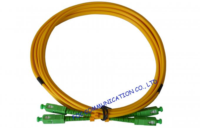 High Stability Fiber Optic Cable Assembly , CATV System SM Simplex SC SC Patch Cord​