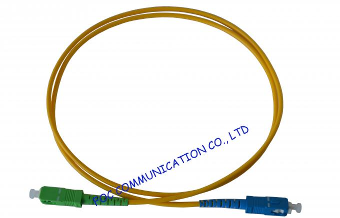 High Presion Ferrule Fiber Optical Patch Cord , SM Simplex SC-SC
