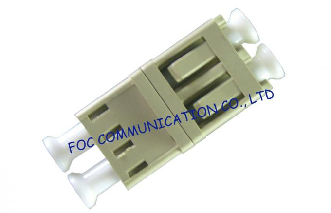 Fiber Optic Adapter LC Duplex Zirconia Ceramic Sleeve High Stability For FTTX