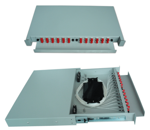 16 Ports Fiber Optic Distribution Box With Splitters and Adapter For FTTH​
