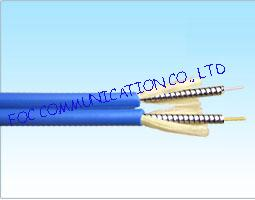 Armored Optical Fiber Cable Zipcord Duplex With Flexible Metal Tube