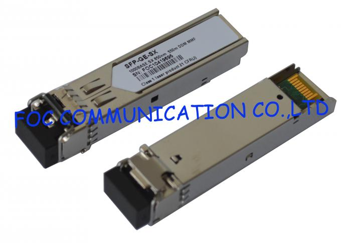850nm SFP Optical Transceiver 10Gbps Multimode 300M For Fiber Network