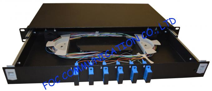 "Light Weight Fiber Optic Patch Panel , 19"" Rack Mount Patch Panel"