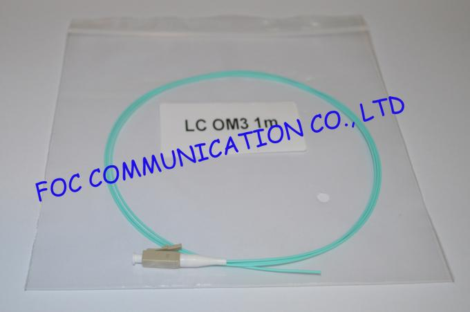 LC OM3 Simplex Fiber Optic Pigtail With High Concentricity Ceramic Ferrule