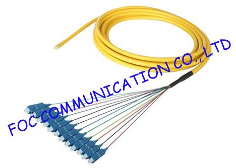 Fan Out LC / UPC pigtail fiber optic 12 Core With High Tensile Strength