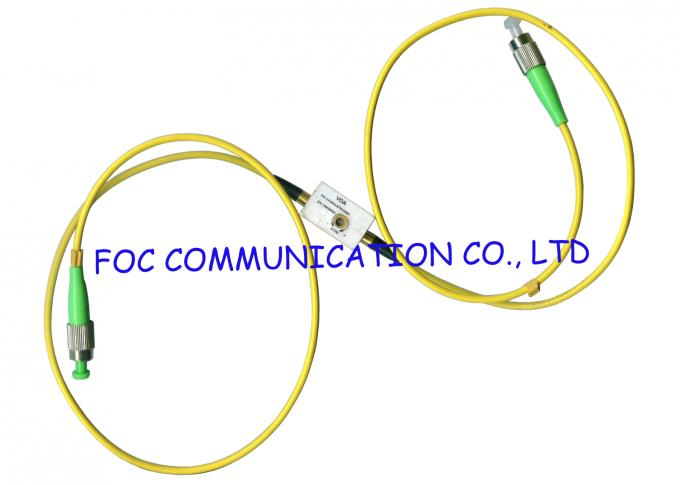 Wideband ST SM fiber optic variable attenuator 1310 / 1550nm Wide Attenuation Value