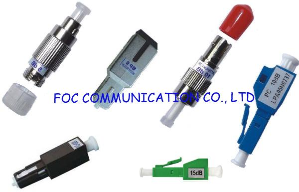 Male to Female Fiber  Optic Attenuator LC to Reduce Signal Power For Fiber Networks 0