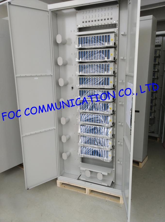Rack Mount Fiber Optic Enclosure 4U High strength Sliding / SC 96 port Fibre Patch Panel