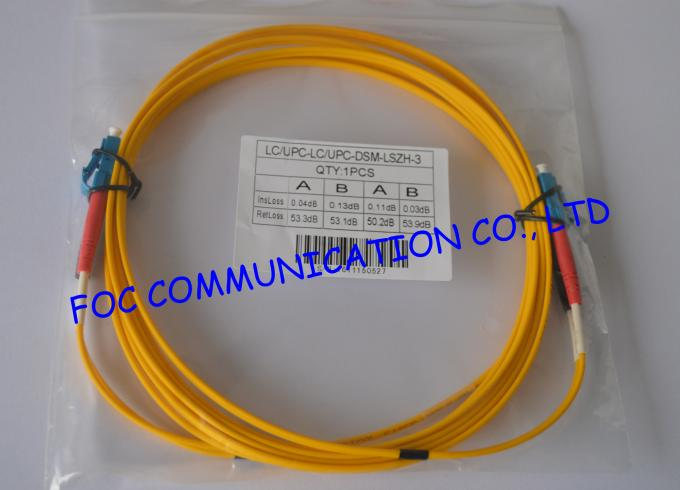 Duplex 2.0mm fiber optic patch cord lc lc For FTTH , Low Insertion Loss