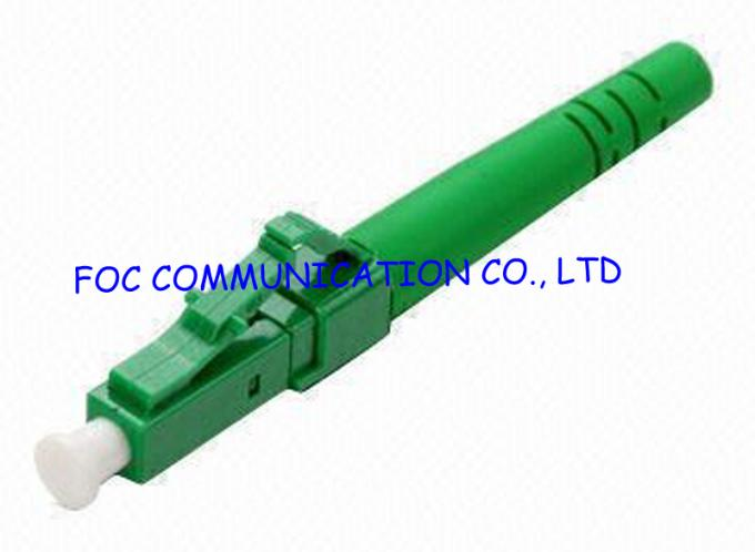 Singlemode LC/APC Fibre Optic Connectors, Fiber Optical Network Cable Connectors