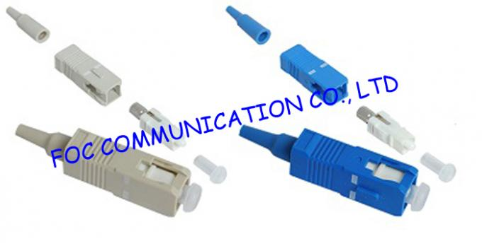 FTTH Networks Fibre Optic Connector , SC FC ST LC MM Patch Cord Connector