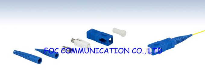 Duplex 0.9mm SC Optical Fiber Connectors SM / MM For WAN And LAN
