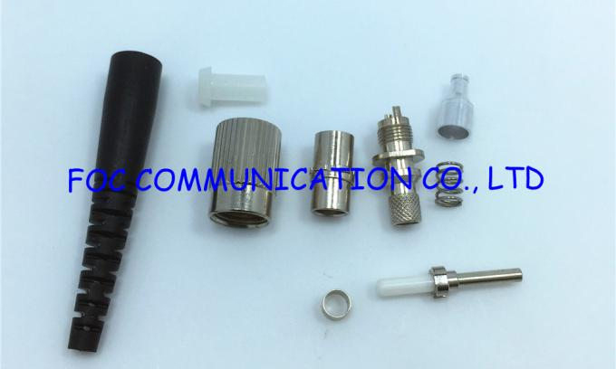 Long Mesh Boot SM Simplex Fiber Optic FC Connector For Telecommunication Networks