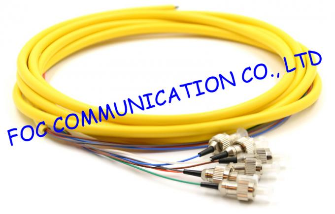 FC 2.0mm Fiber Optic Pigtail SM LSZH Low Insertion Loss for Optical Networks