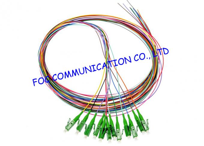 Flame Resistant Fiber Optic Pigtail LC / APC SM G.655 LSZH Jacket For Telecom