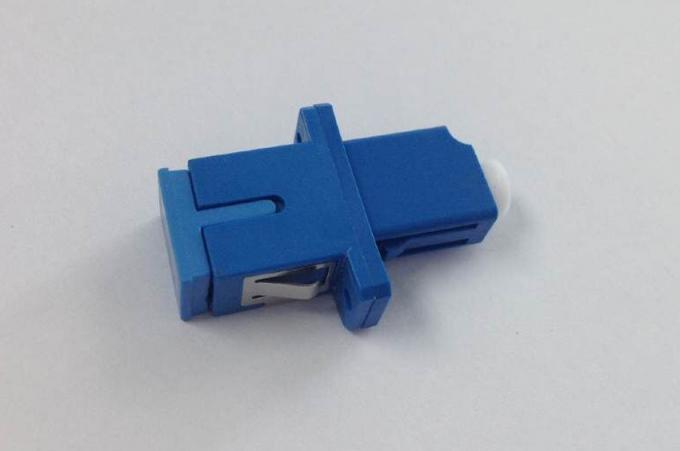 Plastic Simplex Fiber Optic Adaptor LC - SC For Fiber Optic Telecom Networks