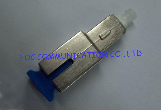 Single mode SC fiber optic attenuator 20db 1310 / 1550nm metal housing for FTTH