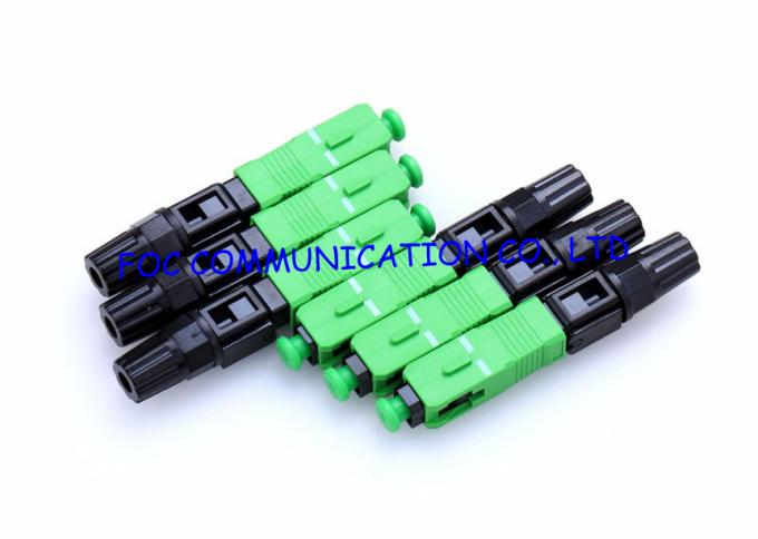 Quick Connect FTTH Fiber Optic Connector SC SM Field Installable 0
