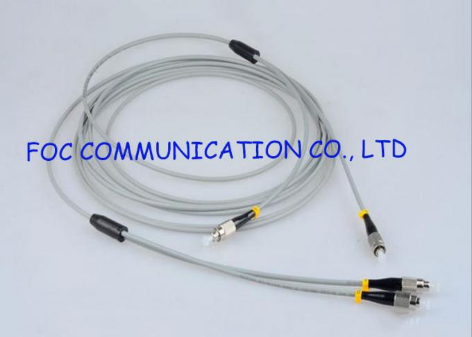 Zipcord Armored Optical Fiber Patch Cables Multimode FC Anti rodent