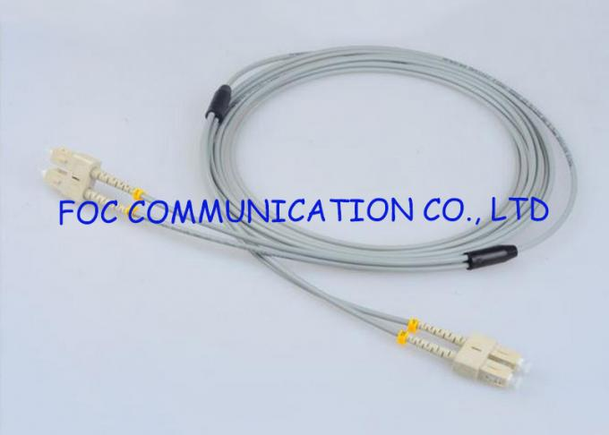 Multimode SC-SC Fiber Optic Patch Cord Armored Zipcord Anti rodent