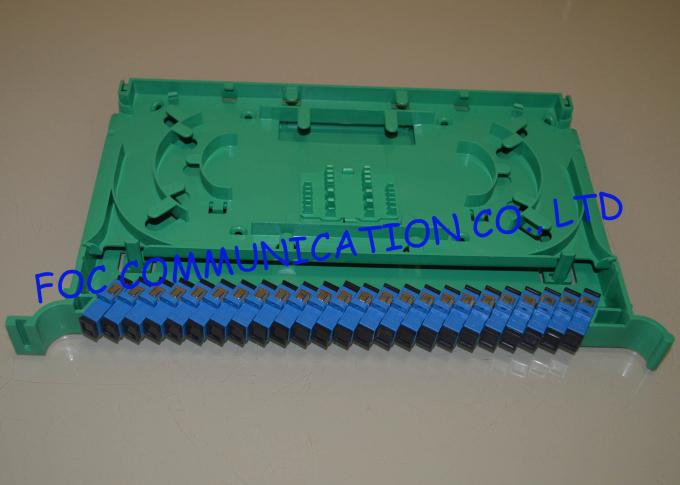 Fiber Optic Splice Tray 24 Port Fiber Optic Patch Panel Loaded with SC Adapters and Pigtails