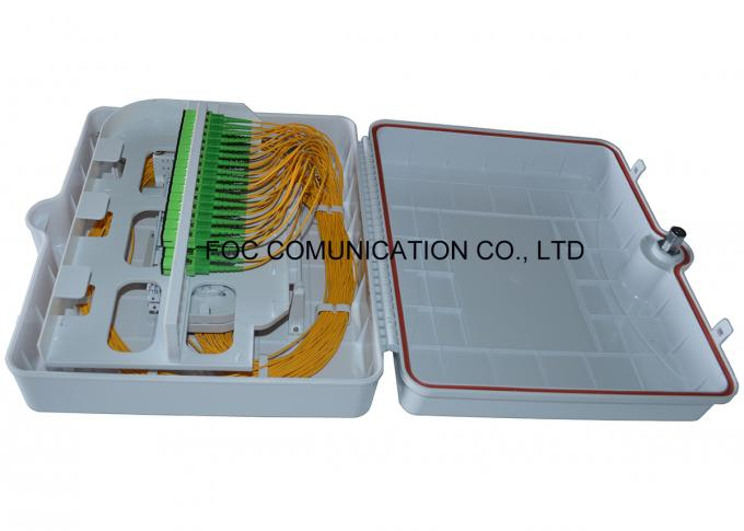 ABS Fiber Optic Termination Box 48 Port With Pre - Installed Fiber Splitters