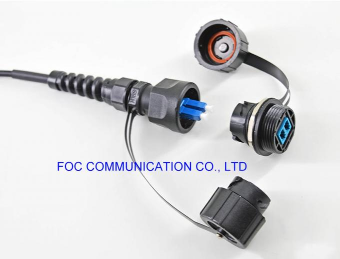ODVA Socket Patch Cord Fiber Optic MPO LC SC Waterproof IP67 For FTTA Network