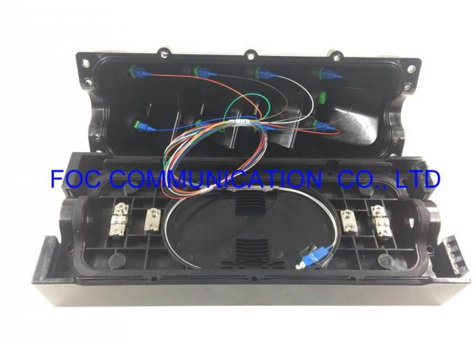 PLC Splitter Fiber Optic Termination Box IP68 Waterproof Easy Installed Pole / Wall Mount
