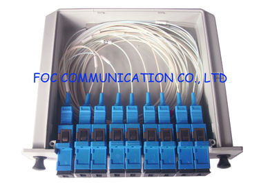 China SC / UPC Fiber Optic Splitter Cassette Box, 1×8 Passive Optical Splitter Low PDL supplier