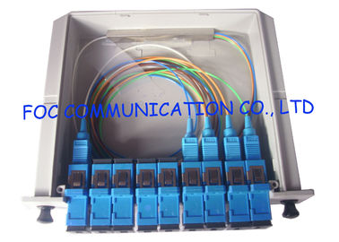 China Fiber Optic PLC Splitter 1×4 For PON Networks Optical Power Signal Distribution supplier