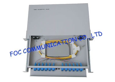 China 24 Port Full Loaded fiber optic patch panel rack mount With Pigtails And Adapters supplier