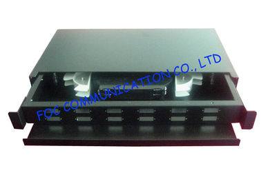 China Sliding Type Fiber Optic Patch Panel 12 SC Duplex Port For Distributing Cables supplier
