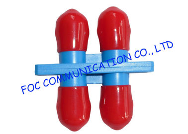 China ST Duplex optical cable adapter / Red Cap multimode fiber optic adapter supplier