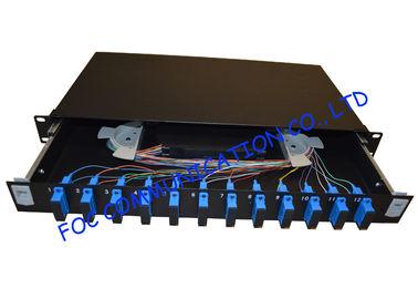Black Sc Upc 24 Port Single Mode Fiber Patch Panel High