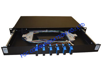 China Singlemode 1U Fibre Optic Patch Panel 12 Ports Full Loaded With SC Pigtail supplier