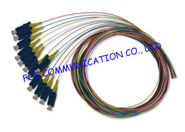 China SM And MM Multi Colors fiber optic pigtail cables OEM Available 12 Pack supplier