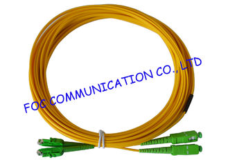 China Yellow Fiber Optic Patch Cord to Double Density of Fiber Termination Equipment supplier