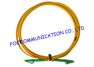 China LC / APC fiber patch cord Duplex G.657A2 Corning Fiber Bend Insensitive supplier