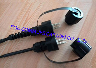 China LC multimode fiber optic cable , optical fiber patch cord For Harsh Environment supplier