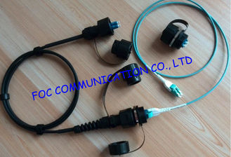 China Durable 8 cores OM3 10G Fiber Optic Patch Cord For FTTA , chemical resistance supplier