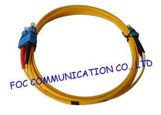 China SC To LC G.652D SM Duplex Fiber Optic Patch Cables Indoor Type With LSZH Jacket supplier