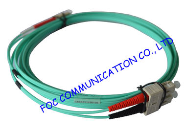 China 10Gb OM3 LSZH LC SC Single Mode Fiber Patch Cable For Telecommunication Networks supplier