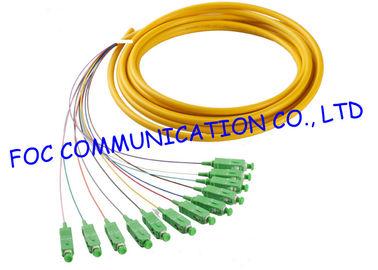 China SC / APC Fiber Optic Pigtail Corning Fiber SM Hytrel Low Insertion Loss ODF supplier