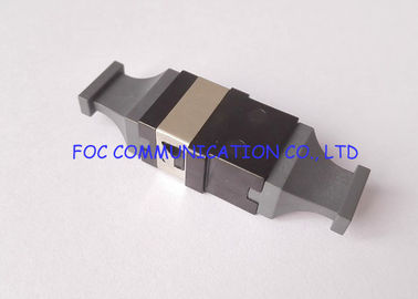 China Black Plastic MTP / MPO Multi Fiber Optic Adapter For 10G / 40G / 100G Networks supplier