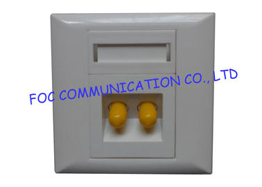 China 2 Port ST Simplex Adapter Preload Fiber Optic Termination Box FTTH Wall Plate Outlet supplier