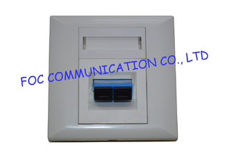 China Wall Mounted 2 Port Fiber Optic Termination Box Outlet SC Duplex Adapter Loaded supplier