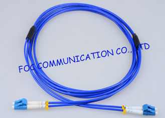 China High Resistance Fiber Optic Patch Cord Armored LC - LC Duplex G.657A supplier