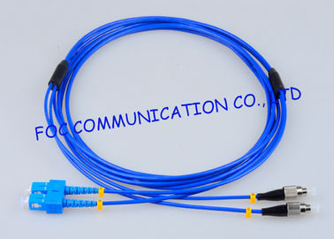 China Rugged Fiber Optic Patch Cable SC - FC G.657A Bending Insensitive Duplex supplier