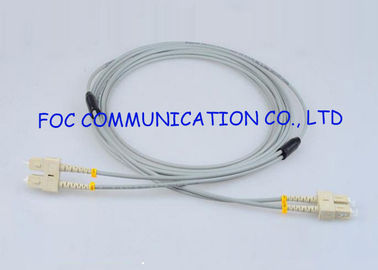 China Multimode SC-SC Fiber Optic Patch Cord Armored Zipcord Anti rodent supplier